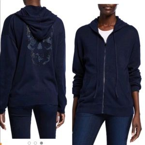 Zadig and Voltaire knit skull glitter hoodie